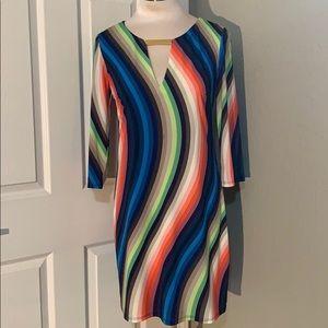 Trina Turk Multicolor Striped Casual Dress